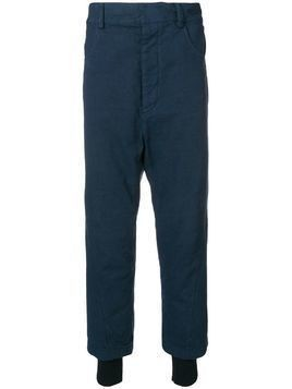 Haider Ackermann layered drop-crotch Trousers - Blue