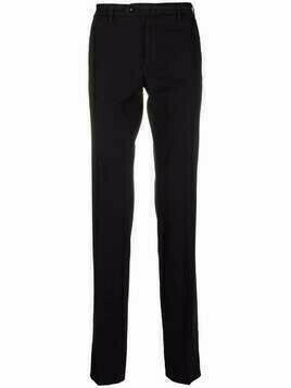 Incotex slim-cut trousers - Black