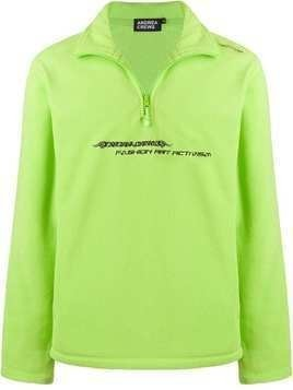 Andrea Crews fleece logo sweatshirt - Green