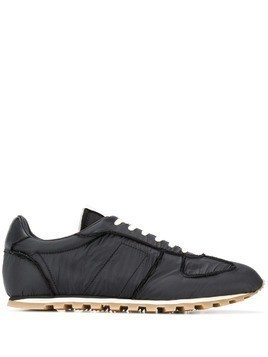 Maison Margiela panelled low-top sneakers - Black