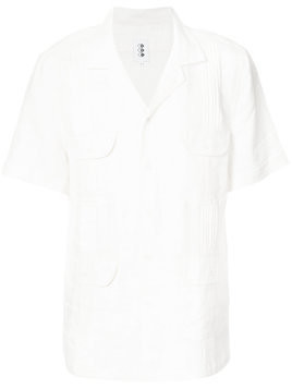 321 flap pocket short sleeve shirt - White