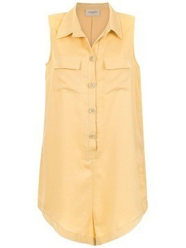 Adriana Degreas buttoned playsuit - Yellow