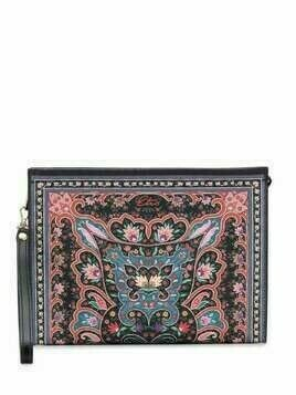 Etro floral-print makeup bag - Black