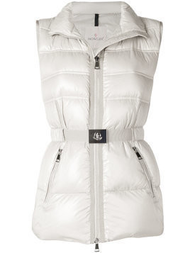 Moncler Aigrette padded gilet - Nude & Neutrals
