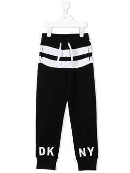 Dkny Kids logo print sweatpants - Black