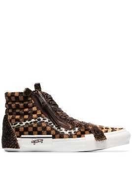 Vans animal print hi-top sneakers - Brown