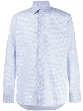 Etro floral-print regular-fit shirt - Blue