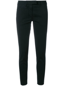 Dondup - skinny fitted trousers - Damen - Cotton/Spandex/Elastane - 28 - Black