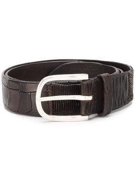 Orciani embossed spiral belt - Brown