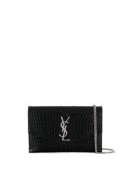 Saint Laurent Monogram envelope clutch bag - Black