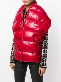 Moncler padded gilet scarf - Red