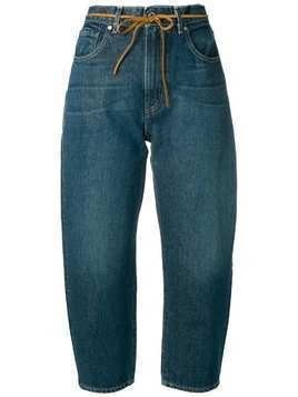 Levi's: Made & Crafted dark wash Barrel jeans - Blue
