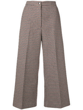 MSGM dogtooth cropped trousers - Red