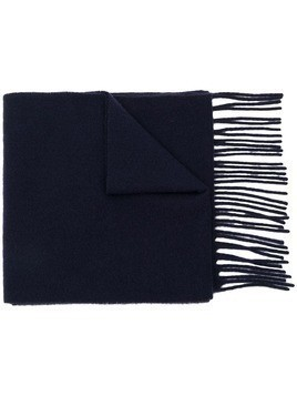 Acne Studios embroidered scarf - Blue