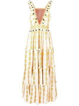 Dodo Bar Or Alicia ethnic tiered dress - Yellow