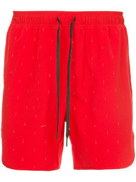The Upside drawstring waist track shorts - Red
