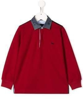 Harmont & Blaine Junior colour blocked polo top - Red