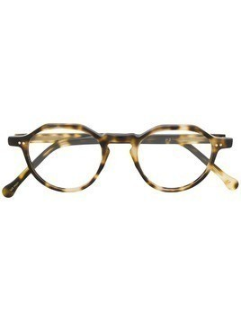 Lesca round frame glasses - Black