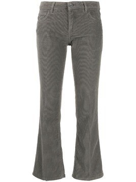 Haikure flared cropped trousers - Grey