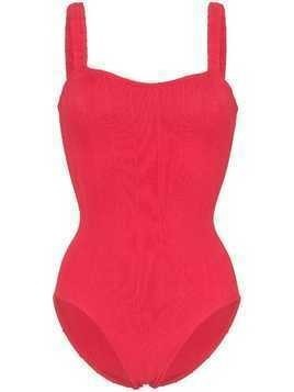 Hunza G Athena Nile ribbed swimsuit - Red