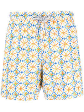 Capricode printed swim shorts - Yellow
