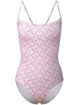 Le Sirenuse geometric pattern swimsuit - White