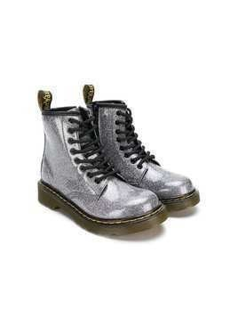 Dr Martens Kids glitter lace-up boots - Metallic