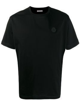 Moncler logo patch T-shirt - Black