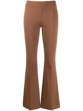 Blanca mid-rise flared trousers - Brown