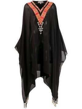 Giacobino long kaftan top - Black
