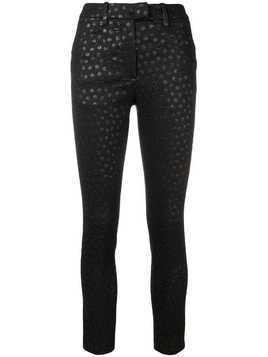 Dondup circle embroidered skinny trousers - Black
