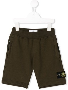 Stone Island Junior brown casual shorts - Green