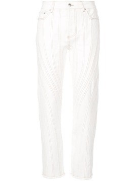 Mugler stitching detail trousers - White