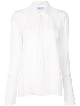 Mugler exaggerated cuff shirt - White