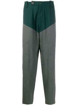 Kiko Kostadinov contrast-panel tapered trousers - Green