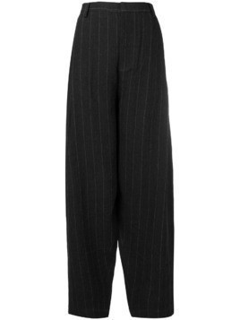 Miaoran striped tapered trousers - Black