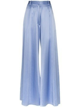 Michael Lo Sordo high-waisted wide-leg trousers - Blue