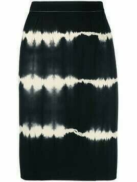 Gucci Pre-Owned 1990s tie-dye high-waisted skirt - Black