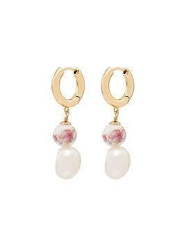 Anni Lu Heloise pearl hoop earrings - GOLD