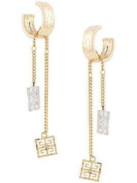 Givenchy chain detail hoop earrings - GOLD