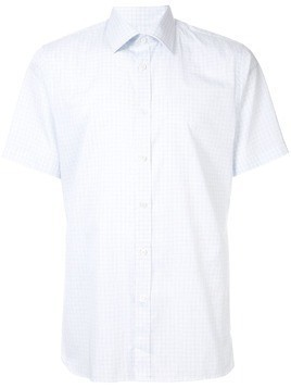 Gieves & Hawkes checked shirt - White