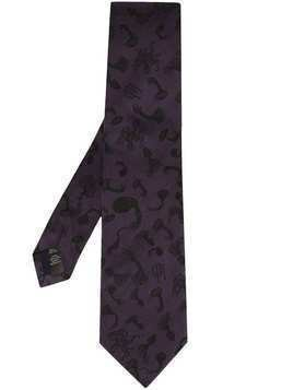 Gieves & Hawkes logo embroidered tie - Purple