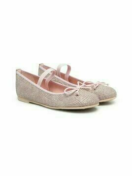 Pretty Ballerinas Kids Queen sparkle-knit ballerinas - Pink