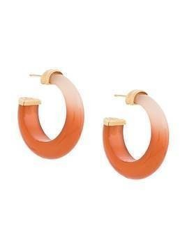 Gas Bijoux Abalone hoop earrings - ORANGE