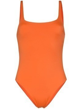 Araks orange Usha cut-out swimsuit