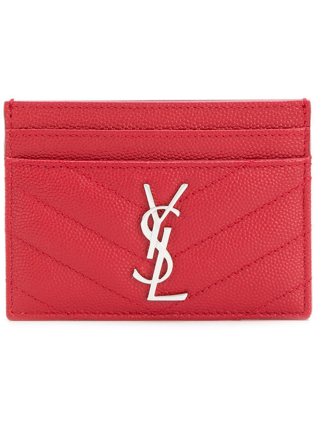 Saint Laurent logo cardholder - Red