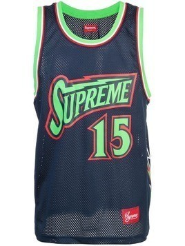 Supreme Bolt basketball jersey - Blue