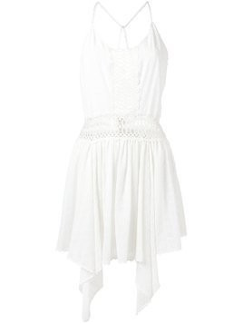 Martha Medeiros embroidered short dress - White