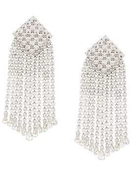 Alessandra Rich crystal-square drop earrings - Silver