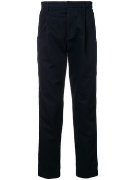 Closed side stripe regular-fit trousers - Blue
